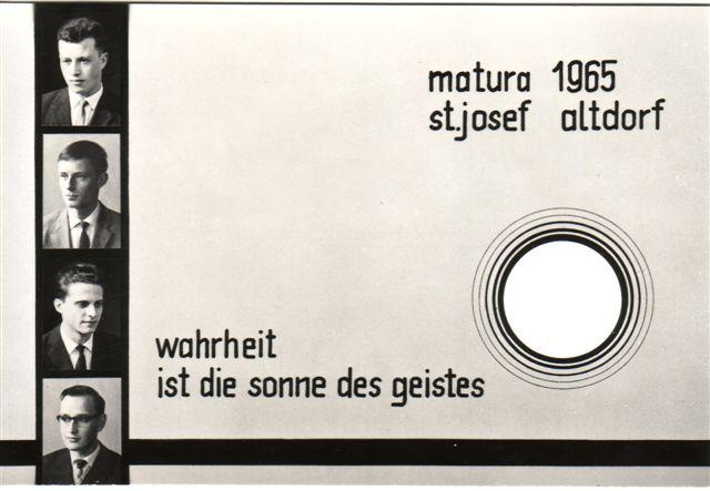 1965 Maturaklasse