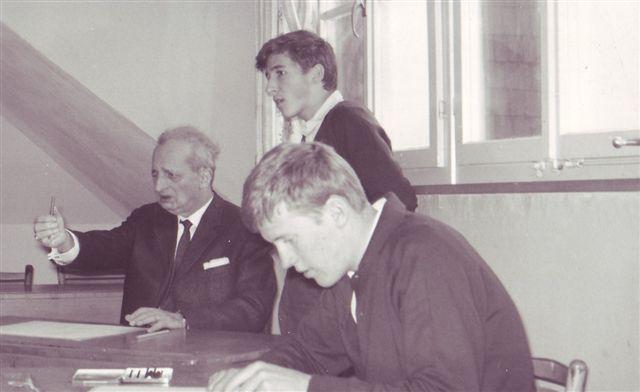 1965 Zeichnen Huber mit Josef Bechtiger