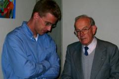 Othmar Stöckli und Pater Hilarius